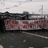 [França] Lyon: Informe da manifestação antifascista contra o partido de extrema-direita Frente Nacional
