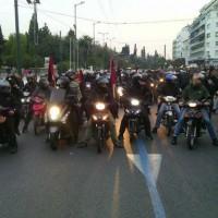 [Grécia] Marcha motorizada em solidariedade com o grevista de fome Nikos Romanós