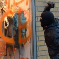 [Alemanha] Protestos em Frankfurt na abertura da nova sede do BCE