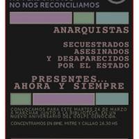 [Argentina] Convocatória: 39 anos do último golpe genocida. Não esquecemos! Não perdoamos!