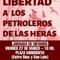 [Argentina] Jornada de difusão: Liberdade aos petroleiros presos das Heras