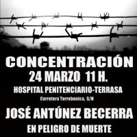 [Espanha] Transladam ao hospital em grave estado o preso político José Antúnez Becerra no 60º dia de greve de fome