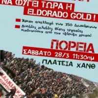 [Grécia] Tessalônica, 28 de março de 2015: Marcha contra a mineração de ouro