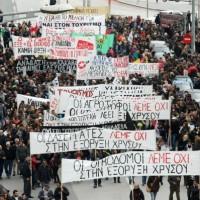 [Grécia] Vídeo: A marcha de 28 de março em Tessalônica contra a mineração de ouro
