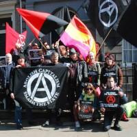 [Escócia] Em Edimburgo, ativistas realizam protesto solidário em frente ao Consulado da Espanha