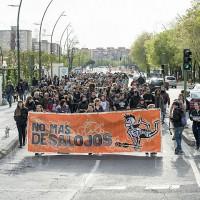 [Espanha] Centenas de pessoas apoiam o CSO La Casika em defesa dos espaços okupados