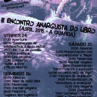 [Galícia] III Encontro Anarquista do Livro em A Guarda, de 24 a 26 de abril
