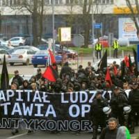 [Polônia] Em Katowice, anarquistas protestam contra encontro econômico europeu