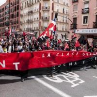 """[Espanha] CNT-AIT manifesta-se em Madri no 1º de Maio sob o lema: """"A classe trabalhadora não vota: luta e se organiza"""""""