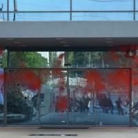 [Grécia] Atenas: Intervenção combativa nos escritórios da Companhia Petrolífera Grega