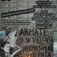 [Porto Alegre-RS] Eventos em memória do anarquista Mauricio Morales