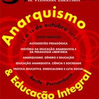 [Recife-PE] 3ª Jornada de Pedagogia Libertária: Anarquismo e Educação Integral