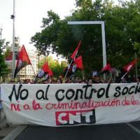 """[Espanha] CNT-Zaragoza: Crônica da manifestação contra a """"Lei Mordaça"""""""