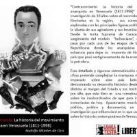 "[Espanha-Venezuela] Campanha para arrecadar fundos para a impressão do livro ""Contracorriente: la historia del movimiento anarquista en Venezuela (1811-1910)"""