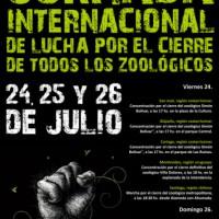 Jornada internacional de luta pelo fechamento de todos os zoológicos: 24, 25 e 26 de julho