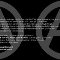 [Turquia] Convite de solidariedade internacional pelo Massacre de Suruç