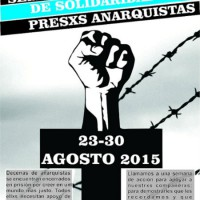 Chamada para Semana Internacional pelos Presos Anarquistas, de 23 a 30 agosto de 2015