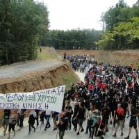 [Grécia] Nova repressão policial contra marcha anti-mineradora em Calcídica