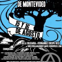 [Uruguai] Cronograma da 4ª Feira do Livro Anarquista de Montevidéu