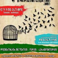 [Chile] Temuko: 4ª Jornadas de Contrainformação e Propaganda Libertária, 10 e 11 de outubro