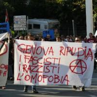 [Itália] Mobilização antifascista em Gênova