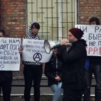 """[Ucrânia] Protesto em frente à embaixada turca em Kiev: """"Erdogan assassino"""""""