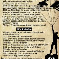 [Colômbia] Programação da 3ª Feira Anarquista do Livro e da Publicação em Medellín