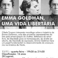 [São Paulo-SP] Espetáculo: Emma Goldman, Uma Vida Libertária