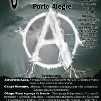 Confira a programação da 6ª Feira do Livro Anarquista de Porto Alegre (RS)