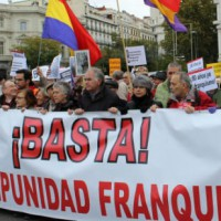 Espanhóis exigem reconhecimento dos crimes de Franco