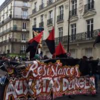 [França] Manifestação de resistência contra os 'estados de urgência' em Nantes, 20 de fevereiro de 2016