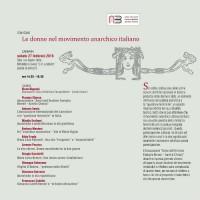 [Itália] Convenção: Mulheres no movimento anarquista italiano