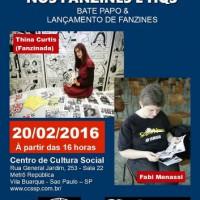 """[São Paulo-SP] """"A presença da mulher nos fanzines e HQs"""" é tema de palestra no CCS"""