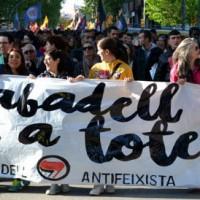 [Espanha] Protesto antifa em resposta a ataques de neonazistas na cidade de Sabadell