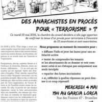 """[Bélgica] Anarquistas processados por """"terrorismo""""?"""