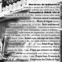 [Porto Alegre-RS] Calendário das atividades de maio na Biblioteca Kaos