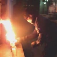 [Ucrânia] 1º de maio: Anarquistas jogam coquetel molotov contra banco estatal
