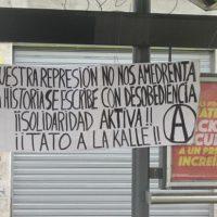 [Chile] Santiago: Vossa repressão não nos amedronta, solidariedade ativa com Tato