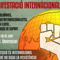 [Espanha] Manifestação Internacional: Se a opressão é internacional, que também seja a resistência.
