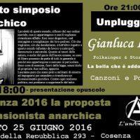 [Itália] IV Simpósio anarquista / Show de Gianluca Lalli