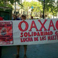 [Espanha] Barcelona: Manifestação internacionalista. Solidariedade à luta dos professores em Oaxaca.