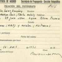 [Espanha] Encontrada licença de repórter de Saint-Exupéry durante Guerra Civil espanhola