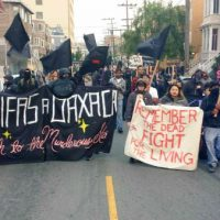 [EUA] Marcham pelos professores mexicanos e Oaxaca em São Francisco; anarquistas e integrantes do Black Lives Matter tomam as ruas