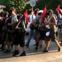 [Grécia] Fotos e Vídeo: Protesto antifascista boca a boca em Sepolia