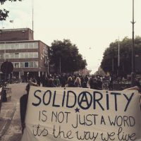 [Holanda] Amsterdam: Manifestação solidária à companheira presa e acusada de expropriação bancária