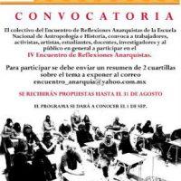 [México] Convocatória para o IV Encontro de Reflexões Anarquistas