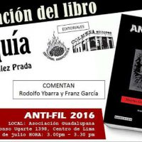 """[Peru] Apresentação do livro """"Anarquia"""" de Manuel González Prada"""