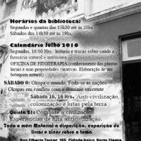 [PortoAlegre-RS] Calendário do mês de julho na Biblioteca Anárquica Kaos