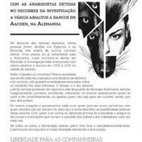 [Portugal] Chamada de solidariedade com as anarquistas acusadas de assaltos a bancos em Aachen