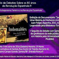 [Santos-SP] Ciclo de debates sobre os 80 anos da Revolução Espanhola